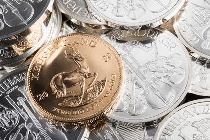 Gold- und Silbermünzen